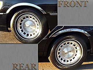 QAA fits 1998-2002 Lincoln Town Car (4 Piece Molded Stainless Steel Wheel Well Fender Trim Molding, 2.25