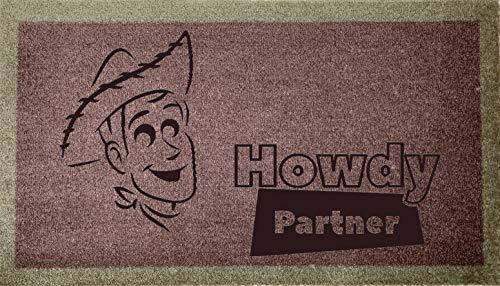 Alfombra para puerta grabada, 40 cm x 70 cm, diseño de Woody Partner (tostada)