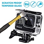 Waterproof Housing Case for GoPro Hero 8, 60M Diving Protective Housing Shell for Gopro Hero 8 Black Action Camera… 14 196FT/60M Gopro 8 Diving Case: Designed with waterproof seal and tightened buckle, REDTRON waterproof housing shell helps to prevent to water leakage effectively. You can use your Gopro Hero 8 to record underwater activities up to 196FT/60M without worrying about the leakage. HD Scratch-proof & Clear Shooting Underwater: The lens of Gopro 8 underwater photography housing is made of ultra-thick transparent tempered glass with with high light transmission which protect your Gopro 8 lens from being scratched and provides you a good shooting results. Upgraded Quick Release Buckle Mount: REDTRON protective housing case for Gopro 8 comes with a quick release buckle mount with 2 type screws. You can attach your Grpro 8 black to accessories such as tripod, bicycle mount, suction cup mount. (Note: accessories are NOT included)