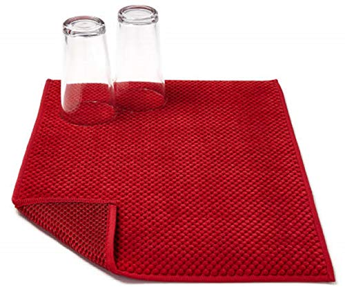 Microfiber Dish Drying Mat by Great Gatherings - Red
