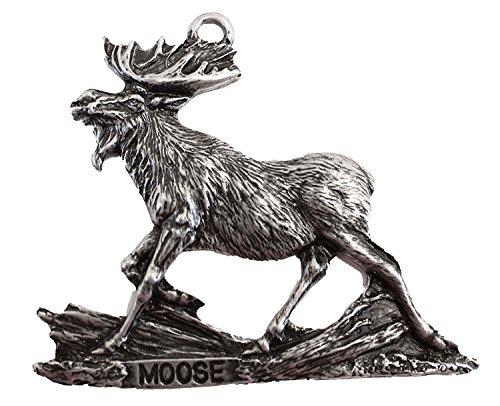 Eric Thorsen Walking Moose Christmas Ornament Medallion Hanging Gift Charm Key Chain Mirror Montana USA
