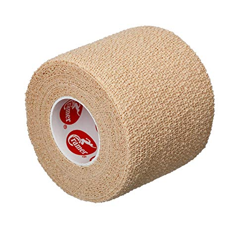 Cramer Eco-Flex Self-Stick Stretch Tape, Cohesive Tape, Flexible Elastic Sports Tape, Athletic Training Room Supplies, Easy Tear & Self-Adherent Bandage Wrap, Single 5 Yard Roll, Compression Tape, Beige