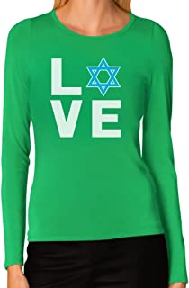 I Love Israel - Jewish Star of David Supporter Women Long Sleeve T-Shirt
