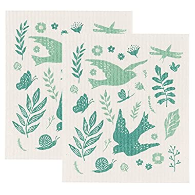 Now Designs Swedish Dishcloth, Set of Two, Meadowlark