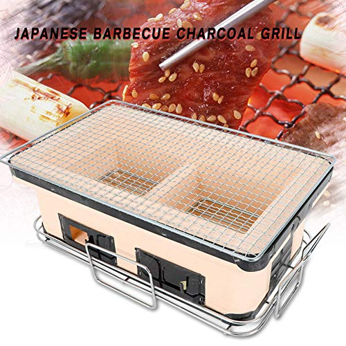 TBVECHI Barbecue Charcoal Grill, 40cm Large Ceramic Japanese Table Grill BBQ Portable Yakitori Barbecue Charcoal Grill Tailgate