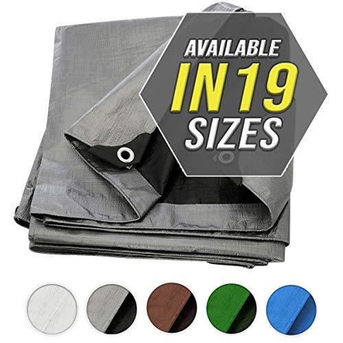 Lona protectora de Trademark Supplies, de color plateado, ideal para cubrir embarcaciones, como toldo, etc.,  cubierta para piscinas o vehículos recreativos
