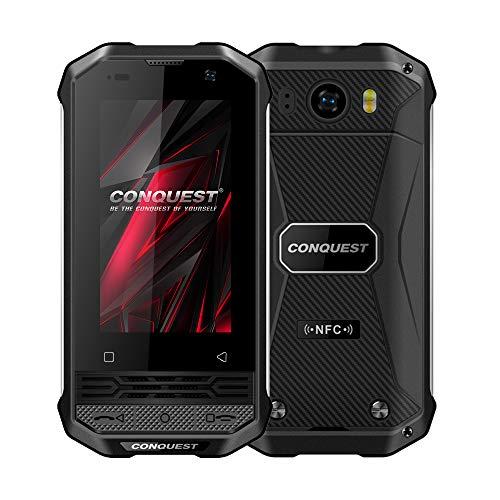 Conquest F2 IP68 Rugged Smartphone in Offerta,120dB Subwoofer 4G Smartphone Antiurto,Mini PoC Citofono,3700mAh Batteria,13MP+5MP Telecamera,Face ID,NFC,FM,GPS(nero)