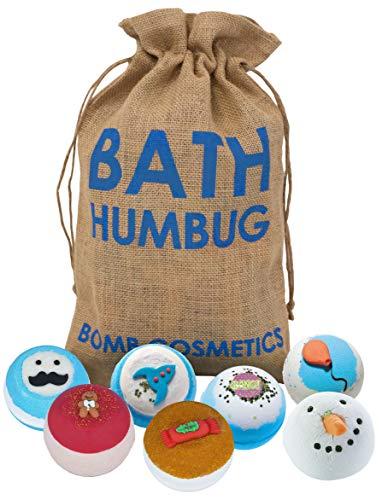 Bomb Cosmetics Bath Humbug Handgearbeiteter Hessischer Sack Bath Blaster Bath Bomb Geschenkpackung, Für Ihn [Enthält 7-teilig], 1120g