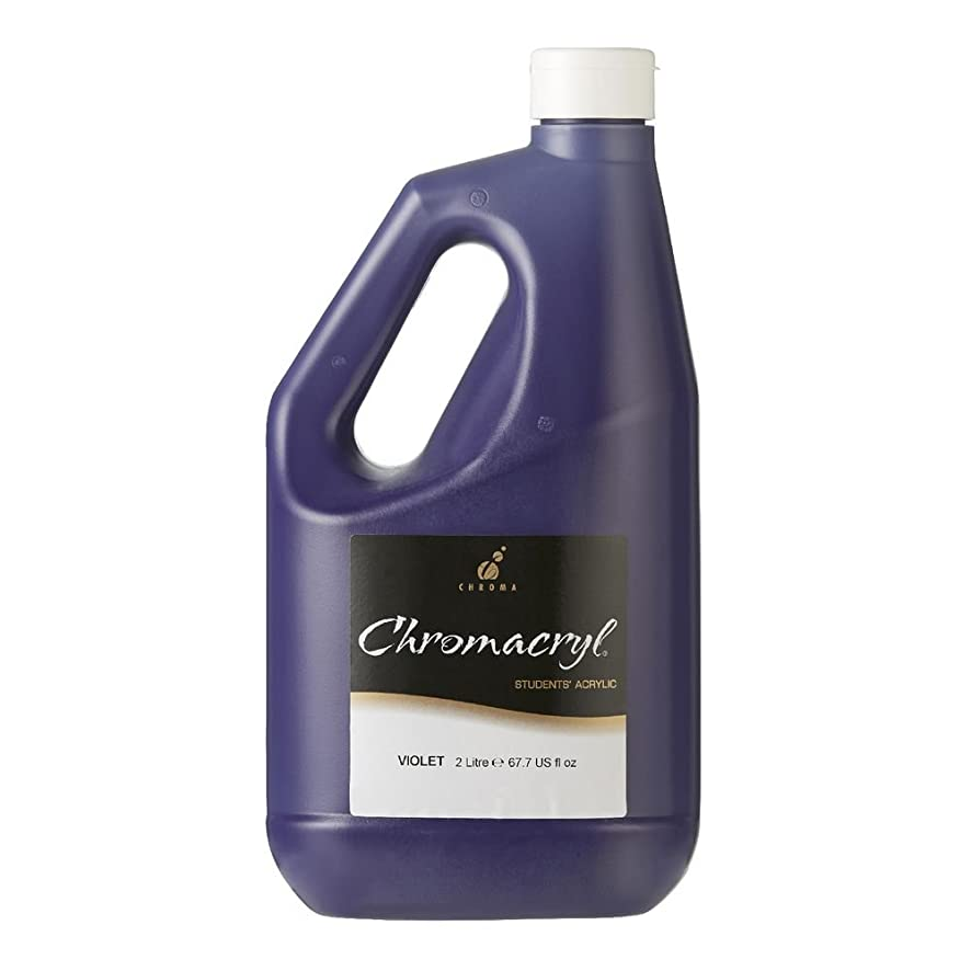 Chroma 439373 Students Acrylic Paint, Premium, 1/2 gal Jug, Violet
