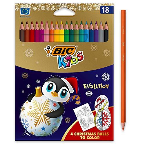 BIC Kids Evolution Crayons de Couleur Edition Limitée de Noël