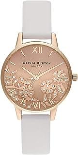 Olivia Burton Womens Quartz Watch, Analog Display and Leather Strap OB16MV102