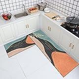 HLXX Alfombra de cocina resistente al aceite, alfombra para el hogar, baño, cocina, antideslizante, lavable, alfombra A6, 40 x 60 cm