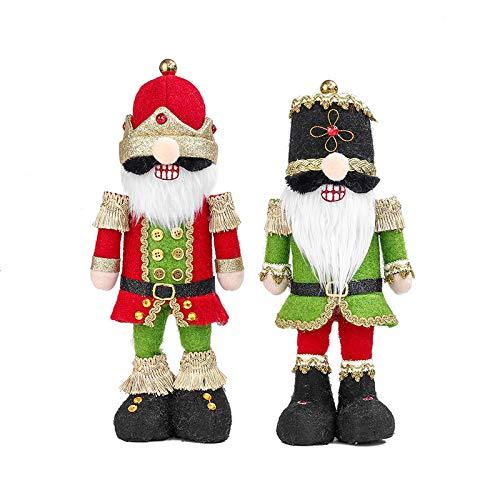 TRAINSTOO 2 Decoraciones De Soldados De Cascanueces De Felpa Decoraciones De Pie MuñEcas De Pie MuñEcas Lindas MuñEcas Sitio Decoraciones CumpleañOs Regalos De Fiesta