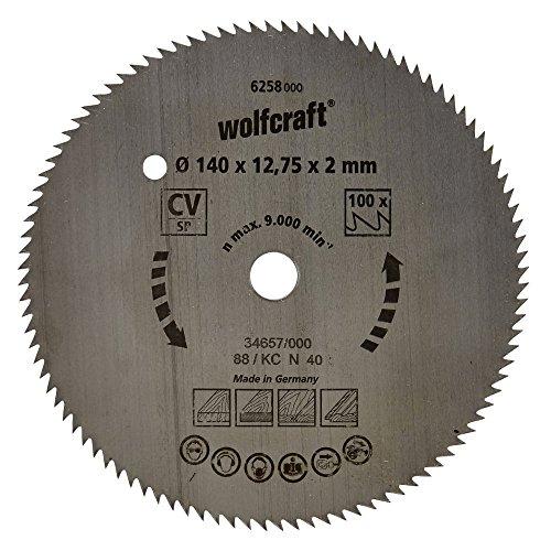 Wolfcraft Kreissäge-Blatt 140 X 12,75 80 Zähne
