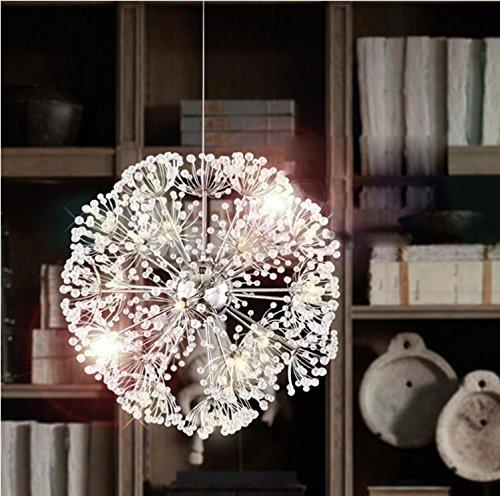 Maniny European Modern LED Restaurant Kronleuchter Wohnzimmer American Retro Restaurant Creative Dandelion Crystal Lampe