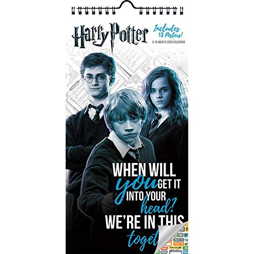 Harry Potter Calendar 2020 Bundle - Deluxe 2020 Harry Potter Mini Poster Calendar with Over 100 Calendar Stickers (Harry Potter Gifts, Office Supplies)