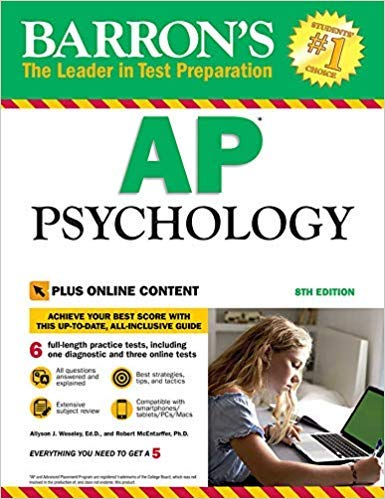 [1438010699] [9781438010694] Barron's AP Psychology with Online Tests 8th Edition-Paperback