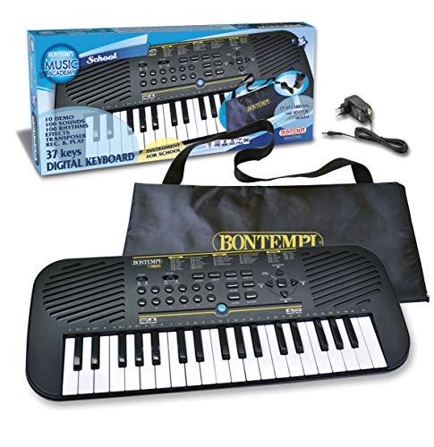 Bontempi- Tastiera 37 Tasti, Colore Nero, 15 3785