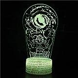 Creativo Dragon Ball 3d lámpara dormitorio mesita de noche lámpara decoración personaje de dibujos animados lámpara de mesa regalo de cumpleaños