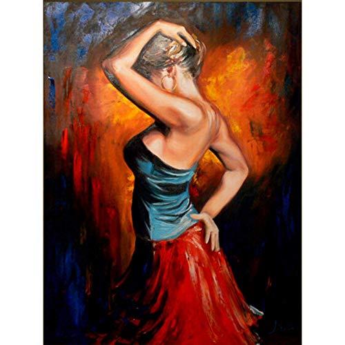 YYJHMK Impressionismus im Kunst-Tänzer-schönen Ölgemälde für Hauptdekor-handgemalte hohe Qualität