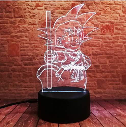 3D Action Figuur Optische illusie lampen, 7 kleuren aanraken, tabel bureau-nachtlampje met USB-kabel afstandsbediening voor slaapkamer en huisdecoratie