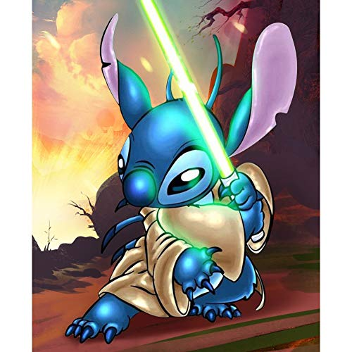 GJH-HAPPYDAY 5D Diamond Painting Kits Full Drill for Adults,Diamond Pictures for Home Wall Decor - Kung Fu Bunny, 30x40 cm
