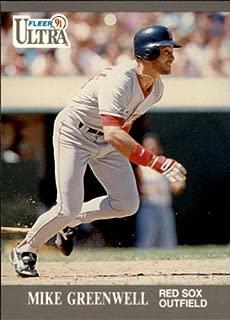 1991 Ultra Baseball Card #32 Mike Greenwell