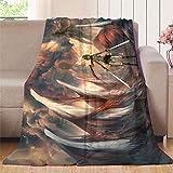 XavieraDoherty Attack on Titan Anime (25) Manta de felpa de 177,8 x 228,6 cm, fácil cuidado para cama y sofá