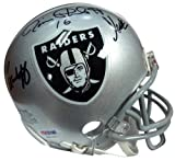 Signed Oakland Raiders Super Bowl MVP's Autographed Replica Mini Helmet With 3 Signatures Including Fred Biletnikoff Jim Plunkett and Marcus Allen - PSA/DNA Certified