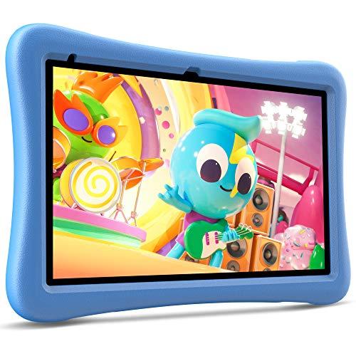 "VANKYO MatrixPad S10 Kids Tablet 10 inch, 2 GB RAM, 32 GB Storage, Quad-Core Processor, Kidoz Pre Installed, 10.1"" IPS HD Display, Android OS, WiFi Tablet, Dual Camera, GPS, FM, Blue Kid-Proof Case"