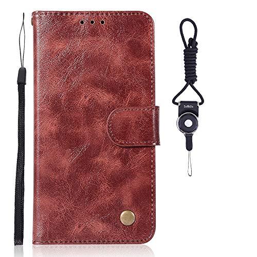 SsHhUu HTC One X10 Hülle, Echt PU Leder Hülle Kartenfach Standfunktion Magnet Ledertasche mit Schlaufenclip + Schlüsselband für HTC One X10 (5.5