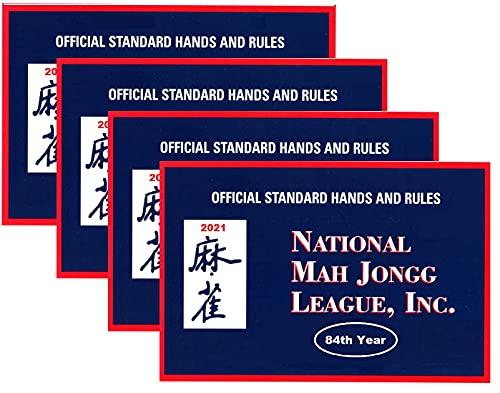 National Mah Jongg League 2021 Large Size Card - Mah Jongg Card - 4 Pack