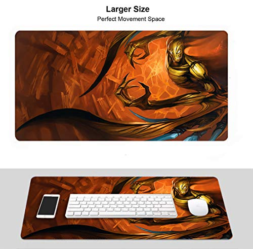 Extended Size Professional Gaming Mouse Pad for League Legends, Stitched Edges Ultra Thick 3Mm (Champion Nocturne Ravager)