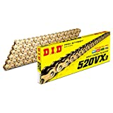 D.I.D(大同工業)バイク用チェーン カシメジョイント付属 520VX3-120ZB G&G(ゴールド) X-リング 二輪 オートバイ用 321716
