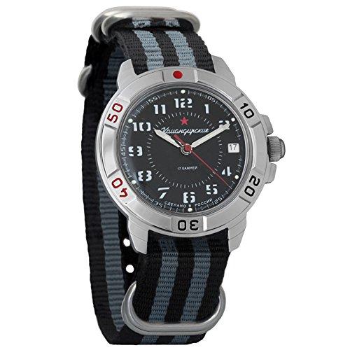 Vostok Komandirskie Army - Reloj de pulsera mecánico para hombre, diseño militar Komandirskie