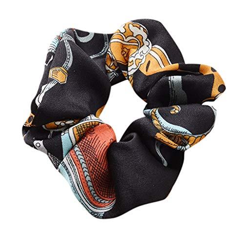 Dicomi Haarband Damen Schminken Frauen Stirnband Elastisches Haar Seil Ring Krawatte Scrunchie Pferdeschwanz Inhaber Haarband Dunkelblau