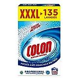 Colon Polvo Activo - Detergente para lavadora, adecuado para ropa blanca y de color, formato polvo - 135 dosis, 7.037 kg