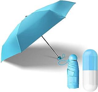 CAOLATOR Regenschirm Mini Taschenschirme mit Schwarzer Anti-UV Beschichtung, 5 Fach Schirm mit Elch Muster Sonnenschirm Klappschirme 6 verstärkten Rippen Klein, Leicht Kompakt für Damen Herren