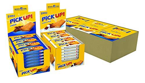 PiCK UP! Bestseller Bundle - Keksriegel Mix - 3 x 24 Einzelpackungen im Thekenaufsteller - in den Sorten Choco (48 x 28 g) und Choco & Milk (24 x 28 g)