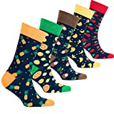 socks n socks Homme 5 paire luxe coton coloré cool chaussettes robe boîte Taille unique Fruits