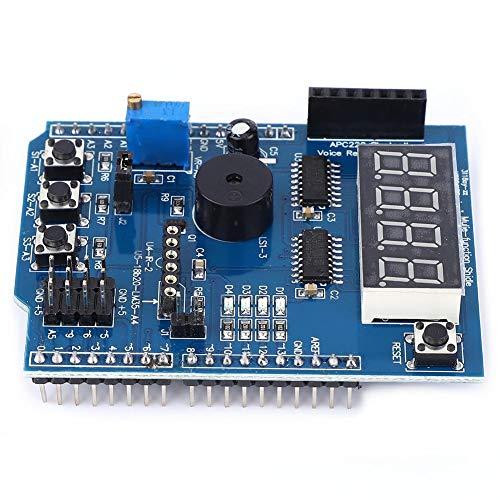 Placa de expansión multifuncional Zunate, Kit de aprendizaje básico Shield de placa de expansión multifuncional para Arduino UNO R3, adecuado para procesamiento flash Max/MSP VVVV u otro software inte
