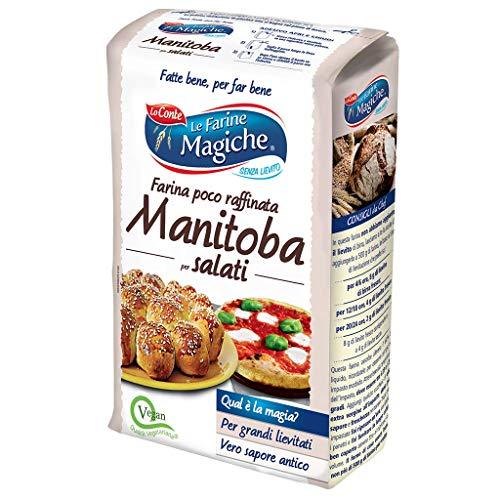 Le Farine Magiche Farina Manitoba per Salati, Profumo intenso, ideale per preparazioni salate, Confezione da 1 kg