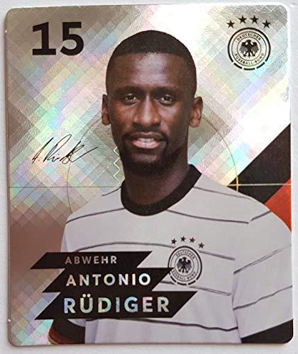 Rewe EM 2020 DFB - Sammelkarten - Glitzer - Antonio Rüdiger - Nr. 15 - Zusatzbonus 1 toysagent Sonderkarte
