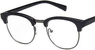 Unisex Glasses Frame Retro Bright Black Gold Round Full Frame Decoration Prescription Glasses
