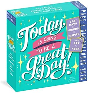 2020 Today is Going to be A Great Daily! Page-A-day Box/Desk Calendar