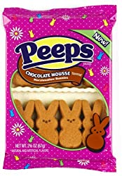 Chocolate Marshmallow Peeps Mousse Flavored Bunnies