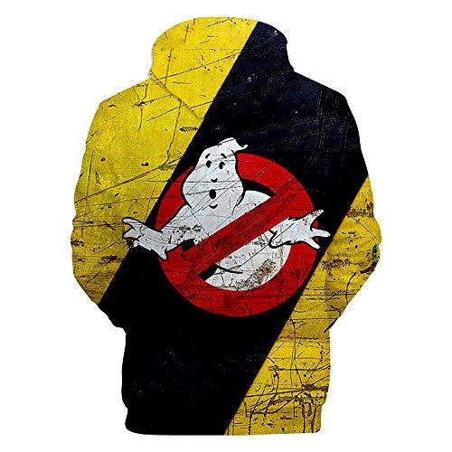 MZFNA 3D Prints Pullover Pullover Atmungsaktive Hoodies Gemusterte Sweatshirts Für Herren Größe Xxs-3Xl Ghostbusters