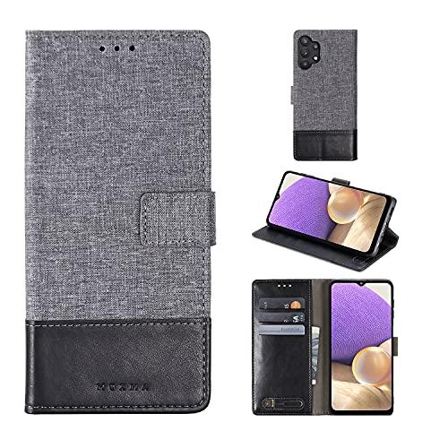 Capa para iPhone carteira de negócios retrô flip couro compartimento para cartão foto moldura para Samsung Galaxy Huawei Honor Xiaomi Redmi Oppo VIVO Realme Nokia Sony OnePlus ASUS Motorola Meizu LG (cinza, Nokia 7.1)