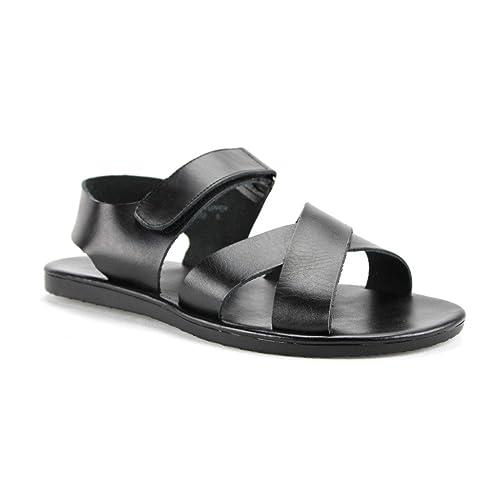 8f02ee0da16b Scandro Men s 52632 Roman Gladiator Leather Strap Sandals Shoes