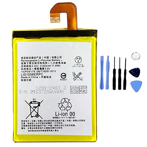 Ellenne - Batería Compatible con Sony Xperia Z3 D6603 D6653 LIS1558ERPC de Alta Capacidad 3100 mAh con Kit de desmontaje Incluido